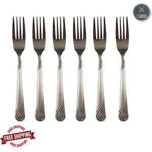 Dinner Forks Quality Design Set of 6 SIX Large Table Forks