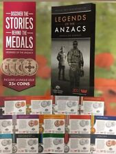 2017 Legends of the Anzacs Medals of Honour UNC set with folder... RARE