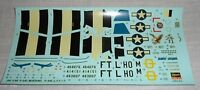 DECAL P51D MUSTANG-HASEGAWA 1/48-Jumpin'Jacques-Petie 2nd-VINTAGE-1991.