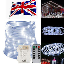 LE 33Ft 120 LED Rope Tube Strip Lights Waterproof Outdoor Garden Daylight White