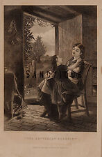 "Engraving from Graham etc. ""THE BUTTERCUP VERDICT"" - 1840-60"
