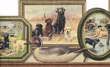 DIE-CUT COUNTRY LABRADOR DOG & PUPPIES FRAMES TRUCK CAR   Wallpaper bordeR Wall