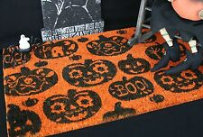 CRATE AND BARREL PUMPKIN DOORMAT – NWT – STEP RIGHT UP TO SOME HALLOWEEN FUN!