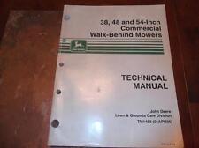 JOHN DEERE 38 48 & 54 INCH COMMERCIAL WALK BEHIND MOWERS TECHNICAL REPAIR MANUAL
