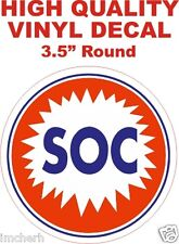 Vintage Style SOC Southland Oil Corporation Signal Oil Gas Gasoline Pump Decal