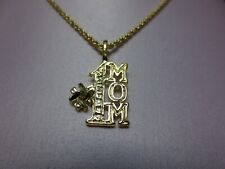 18 INCH 14 KT GOLD EP ROPE CHAIN NECKLACE WITH A #1 MOM CHARM PENDANT-2114