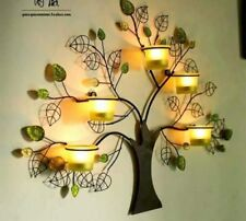 Metal  Decor Tree Wall Pocket Mount 5 Candle holder Stand no candle Glass Bottle