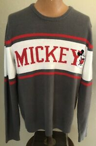 Disney Mickey Mouse Long Sleeve Sweater Size Large