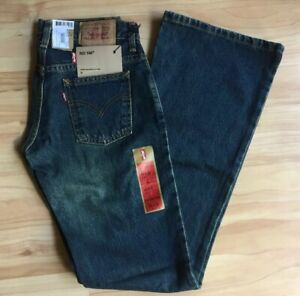 NWT Levi Strauss Womens Low Tight Flare Faded Blue Jeans W25