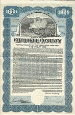 1923 Delaware 1923 Cherokee Company Bond Stock Certificate