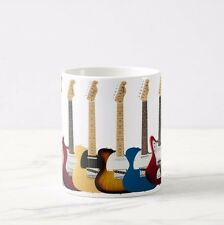 Music Word Acoustic Guitar White New Mug Cup Novelty Musical Themed Gift