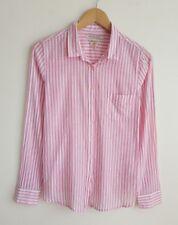MAISON SCOTCH LADIES PINK & WHITE STRIPE SHIRT SIZE 1 UK 8