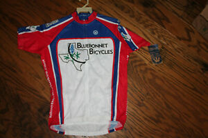 Men's Short Sleeve Cycling Jersey Canari Texas Bluebonnets NWT Size L