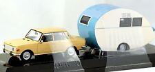 Cars & Co 1/43 scale East German Wartburg 353 1967 w Wurdig 301 caravan MIB