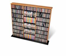 Home DVD Storage Media Cabinet CD VHS Blu-Ray Multimedia Wall Unit Tower Shelf