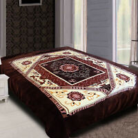 Super Soft Fleece Cuddle Blanket Large Double Sided Floral Bed Throw King Size