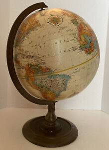 """Vintage Replogle Globe World Classic Series 12"""" Raised Relief USSR Made in USA"""