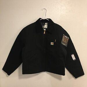 NWT Vintage Carhartt J001 Detroit Jacket Blanket-Lined Size Large Black