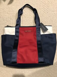 Tommy Hilfiger Womens Large Tote Handbag Color Blue Red White Brand New