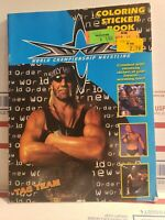 Vintage Wcw Coloring Sticker Book