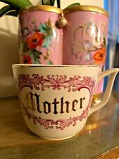 """VINTAGE """"Mother"""" Gold Lettering Birthday or Mother's Day Gift Cup Mug"""