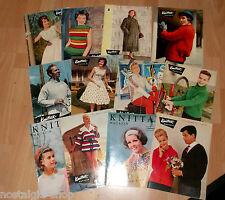 Knittax Magazine 12 Stück 50er 60er Zeitschrift Handarbeiten Vintage