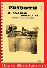 "Frejoth, Asian 12""x 36"" Metal Lathe FI-900AG Instructions & Parts Manual 1248"