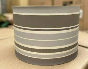 Lampshade Grey Stripe White Asda