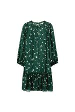Country Road Print Dress - Forest Green