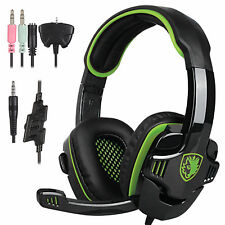 Sades708GT 3.5mm Gaming Headset Surround Stereo w/Mic for PS4/Xbox360/SmartPhone