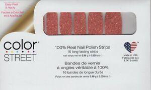 Color Street Nail Strips Seattle Royale Orange 100% Nail Polish Strips-USA Made!