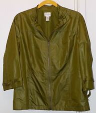 Zenergy by Chico's Green Polyester Unlined Jacket-Misses Chico's Size 2/M -NWOT