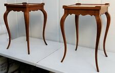 LOT 2 HEKMAN FURNITURE CO 5-6011 END TABLES WINE SIDE