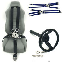 Seat Belt & Metal Steering Wheel & Rubber Seat For RC Crawler Axial Wraith 90018