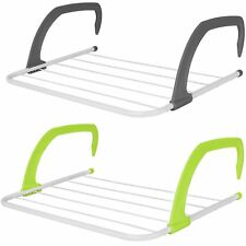 2 x Radiator Clothes Airer Laundry Indoor Outdoor Balcony Rail Drying Rack Dryer