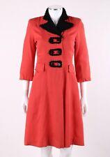 Vtg HARFORD FROCK c.1930-40's Salmon Pink Gabardine Double Breasted Coat Dress