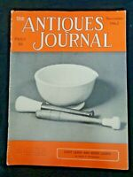 Antiques Journal 1962 Fairy Lamps Night Lights Canes Mortars Pestles Butter Make