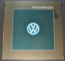 1988 Volkswagen Brochure Fox Golf GTI Jetta Cabriolet Scirocco Quantum Vanagon