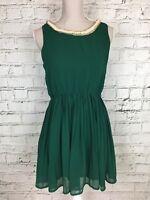 Womens TENKI Green Sleeveless Elasticated Waist Casual Dress Size M/L
