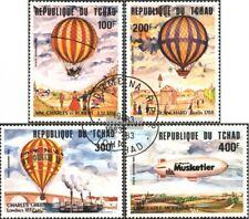 Chad 962-965 (edición completa) usado 1983 200 años aviación
