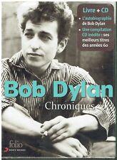 Bob Dylan Chroniques- 1 LIVRE 1 CD -Coffret en édition limitée - Neuf - Folio -