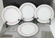 "Lot of Four Graf Von Henneberg JLMENAU Pink Roses Ribbed 7 5/8"" Salad Plates EUC"