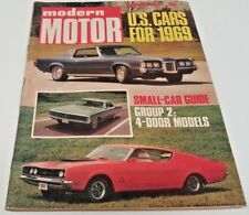 Nov 1968 MODERN MOTOR Magazine KOMBI Fiat 124 Jag XJ6 Bellett Datsun 1600 etc