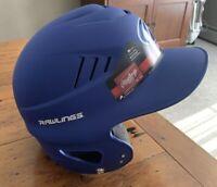 Rawlings Vapor Baseball Softball Batters Helmet Blue Size Fits 6.5 Tol 7.5 New