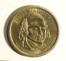 2007 D James Madison Presidential Dollar.