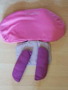 Bezug für Maxi Cosi Pearl / Tobi pink + Gurtpolster Ersatzteile