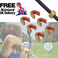 1//5x New archery bow string protect buckle clip nock set brass nocking point$T