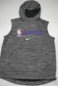 Nike NBA LA Lakers Game Player Issued Practice Sleeveless Hoodie Large LEBRON