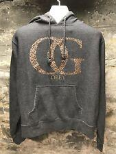 Obey OG Cheetah Spell Out Hoodie Sweatshirt Large RARE 🔥🔥🔥