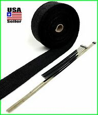 BLACK HEADER WRAP PIPE INSULATION TAPE ROLL 2 X 50 FT W/ STAINLESS STEEL TIES